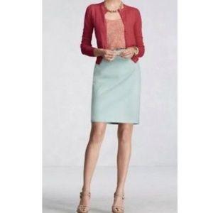 CABI 360 Career Pencil Skirt Jordan Almond Size 4
